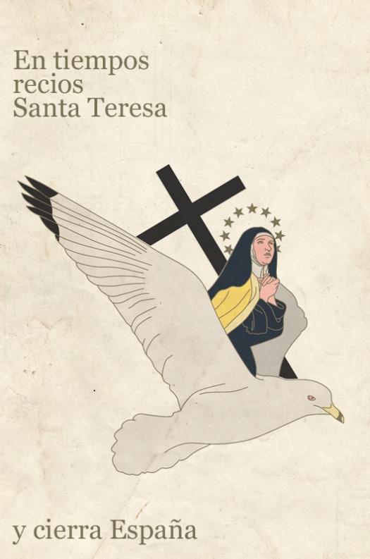 Santa Teresa en gaviota y cruz